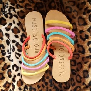 Musse & Cloud Antropologie strappy rainbow slides